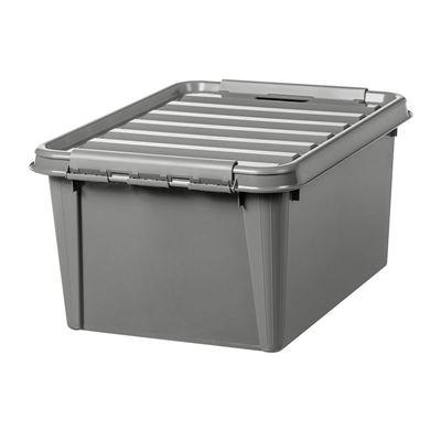 Plastlåda med lock Smartstore Recycled, LxBxH 500x390x260 mm, 32 liter, 10 st eller fler