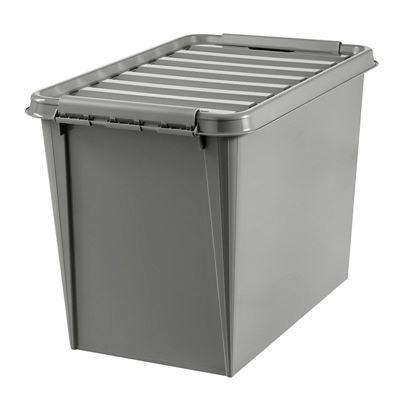 Plastlåda med lock Smartstore Recycled, LxBxH 590x390x430 mm, 61 liter, 10 st eller fler