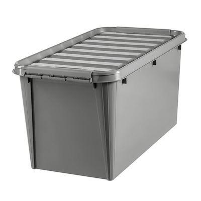 Plastlåda med lock Smartstore Recycled, LxBxH 720x400x380 mm, 70 liter, 10 st eller fler