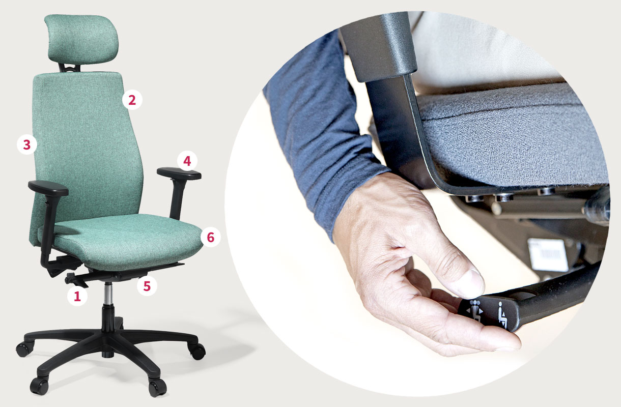 Konsten att hitta bästa kontorsstolen | Gerdmans
